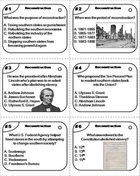 Reconstruction Task Cards