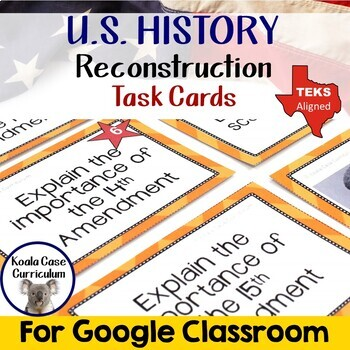 Reconstruction Task Cards Activity