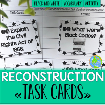 Reconstruction Task Cards - Black and White