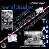 Changes in Industry & Transportation~Task Cards~Worksheets~Social Studies Weekly