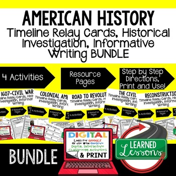 Reconstruction Timeline Relay and Writing Activity (Paper and Google)