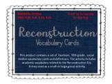 Reconstruction Vocabulary Cards