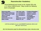 Reconstruction Vocabulary Flashcards
