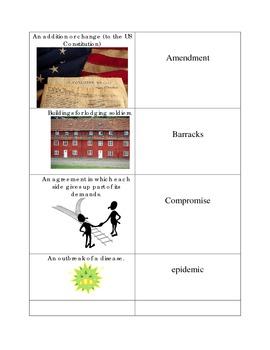 Reconstruction Vocabulary Modification Flash Cards