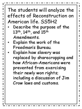 Reconstruction Vocabulary Packet BONUS---posters