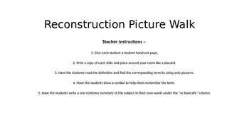 Reconstruction Vocabulary Picture Walk