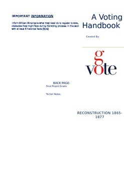 Reconstruction Voting Handbook