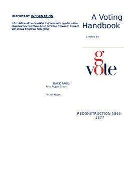 Reconstruction Voting Handbook