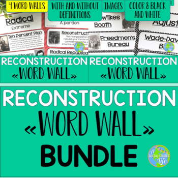 Reconstruction Word Wall BUNDLE