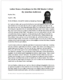 Reconstruction Worksheet: Letter from a Freedman to His Ol