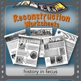 Reconstruction Worksheets
