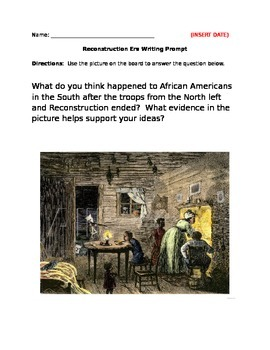Reconstruction Writing Prompt