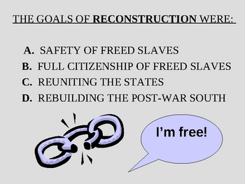 goals of reconstruction after the civil war