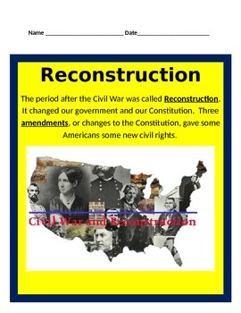 Reconstruction after the Civil War BUNDLE - 4th Social Studies