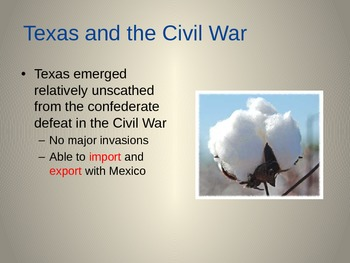 Reconstruction after the Civil War - Specifically in Texas