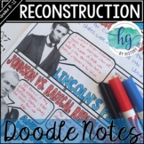 Reconstruction Review Doodle Notes and Digital Guided Notes
