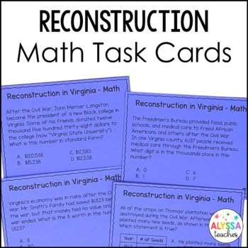 Reconstruction in Virginia Math Task Cards *Cross-Curricul