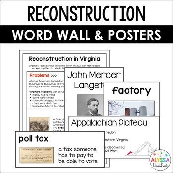 Reconstruction in Virginia Word Wall/Poster Set (VS.8)