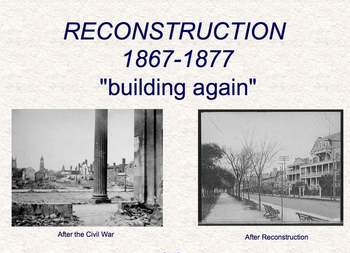 Reconstruction in the South - SC