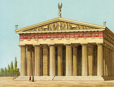 Reconstruction of the Temple of Zeus at Olympia