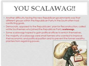 Reconstruction to Progressive Movement PowerPoint
