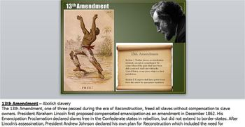 Reconstruction PowerPt2: 13,14,15 Amendment,Homestead,Dawes,Morrill,Civil Rights