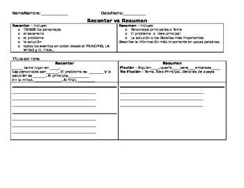 Recontar vs. Resumen