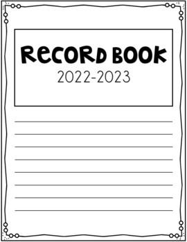 Record Book / Grade Book - Editable!