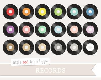 Record Clipart; Music, Vinyl, Retro, Disc