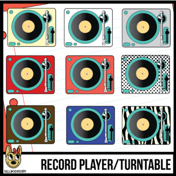 Record Players, Turntables Clip Art
