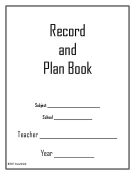 Record and Plan Book