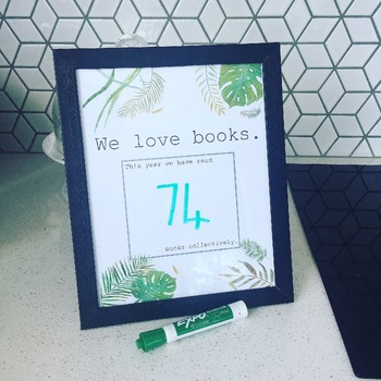 Record the number of books your class has read this year tropical theme
