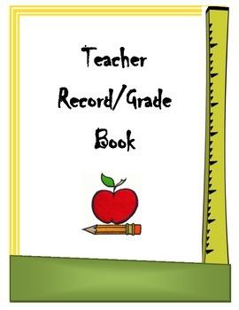 Record/Gradebook Binder Cover Sheet