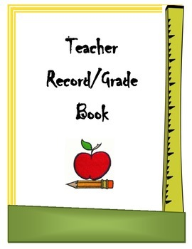 Record/Gradebook Binder Cover Sheet