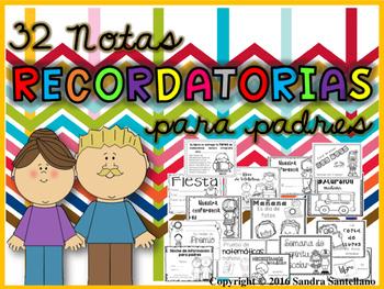 Recordatorios para padres- en español  / Parent reminders
