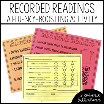 Reading Fluency Activity: Student Recorded Readings + Rubric