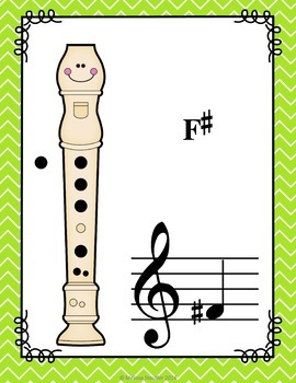 Recorder Fingering Anchor Charts Chevron