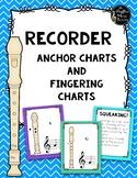 Recorder Fingering Chevron Anchor Charts