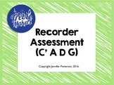 Recorder Assessment- C'ADG