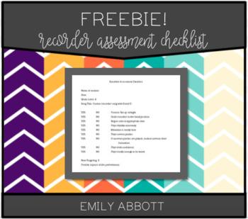 Recorder Assessment Checklist
