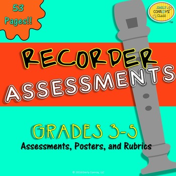 Recorder Assessments (40 Music Assessments)