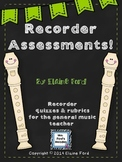 Recorder Assessments Pack: Elementary General Music