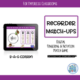 Recorder BAG Match-Ups Interactive PowerPoint for Paperless Classrooms