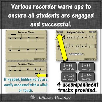 Recorder Song - Babylon's Fallin' (Notes BAG) soprano recorder visuals