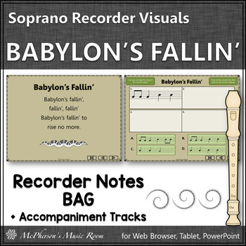 Soprano Recorder BAG Song ~ Babylon's Fallin' Interactive Visuals {Notes BAG}
