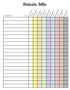 Recorder Belt Records Chart