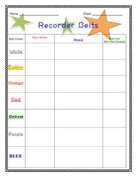 Recorder Belts Sheet!