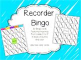 Recorder Bingo
