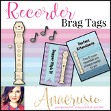 Recorder Brag Tags
