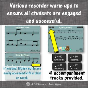 "Soprano Recorder Song ""Bye Baby Bunting"" (Notes EGA) visuals"